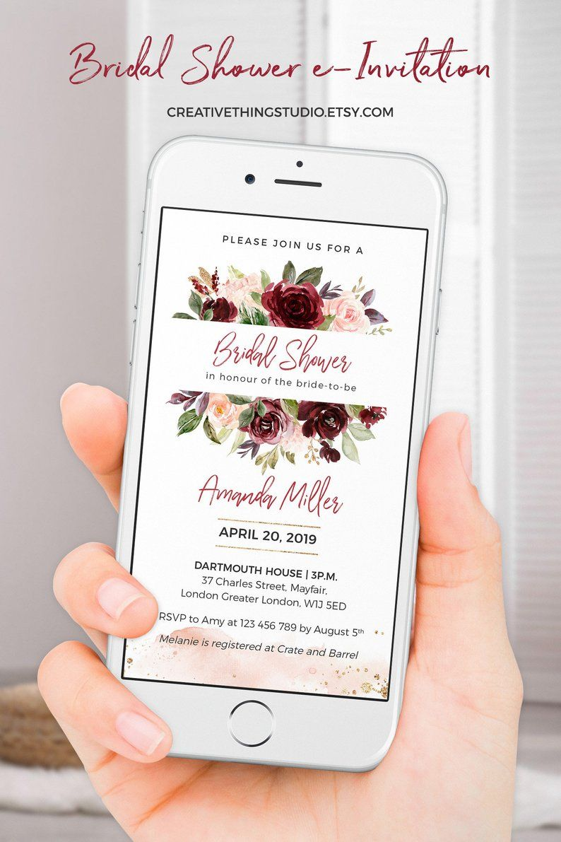 If You Are Looking For A Unique Couple S Shower Invitations This Electronic Invitat Unique Bridal Shower Invites Bridal Brunch Invitations Unique Bridal Shower