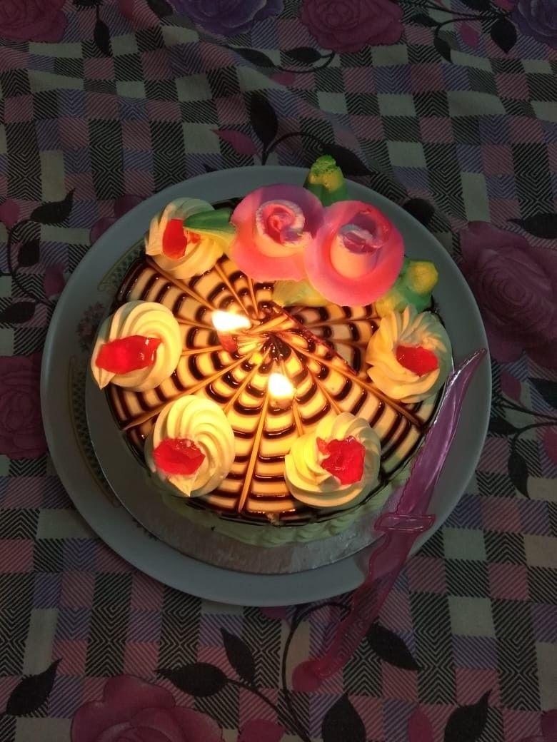 Homemade pineapple cake yummy birthday delight food