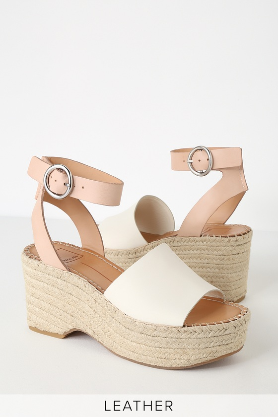 b3069a2fb99 Lulus | Lesly White and Nude Espadrille Wedges | Size 10 in 2019 ...