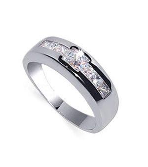 Promise Rings For Men Cz Ring Sterling Silver 38 99
