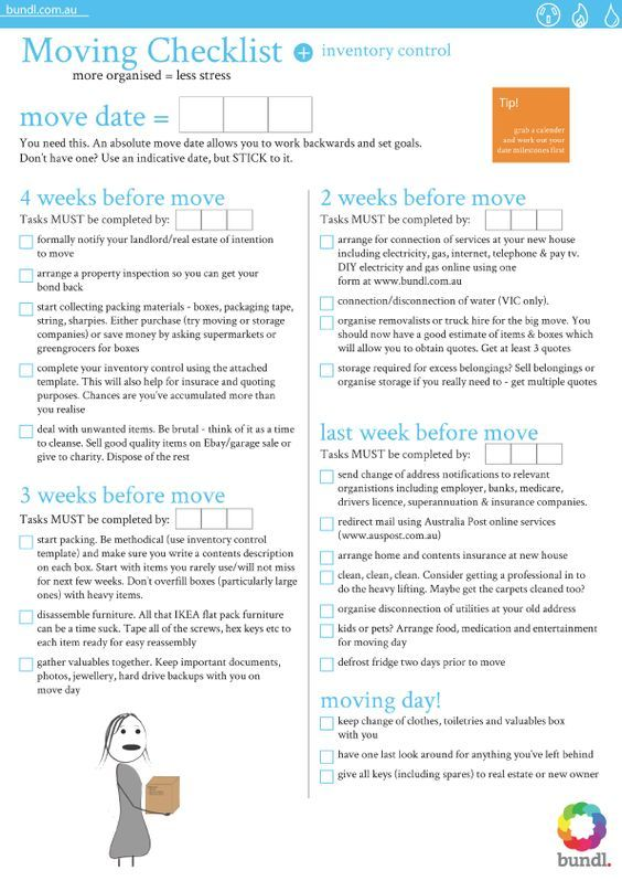 Moving House Checklist Thereu0027s no place like moving into your - landlord inventory template