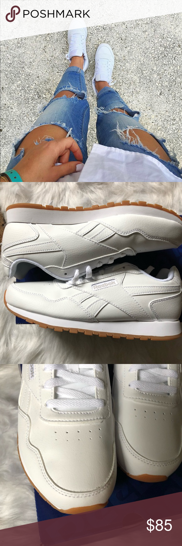 7ae8cac7c6780 Reebok classic Harman Run sneakers NWB! Brand new. Sole outer surface  100%  rubber. Lace-up. Upper outer surface area  100% suede leather.