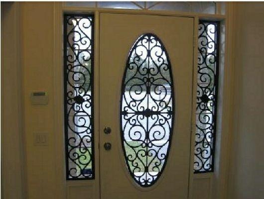 Tableaux Faux Iron Door 18