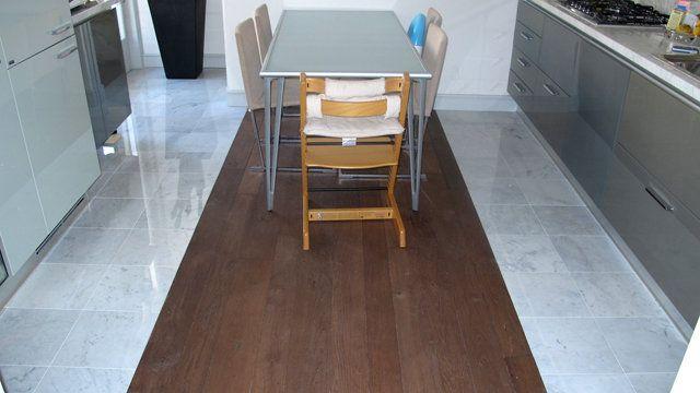 pavimento misto - marmo di carrara e legno  Pavimenti Misti  Pinterest  Searching