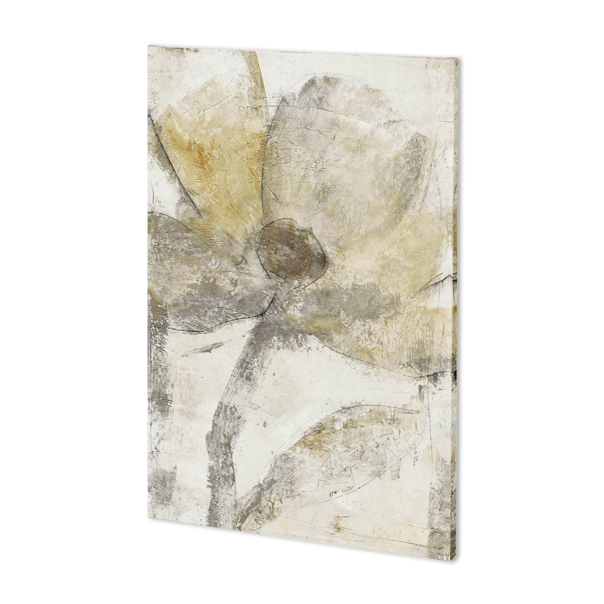 Mercana Une Fleur II (36 x 54) Made to Order Canvas Art, White