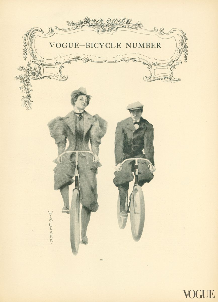 Illustration by W.A. Clark, Vogue, March 14, 1895