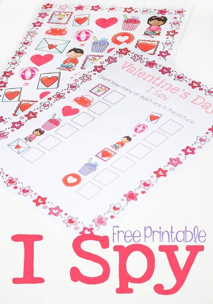 Valentines Day I Spy Counting Activity | Spy, Free printable and ...