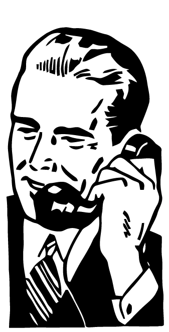 free vector art man on phone art retro vector art art free Retro Food free vector art man on phone