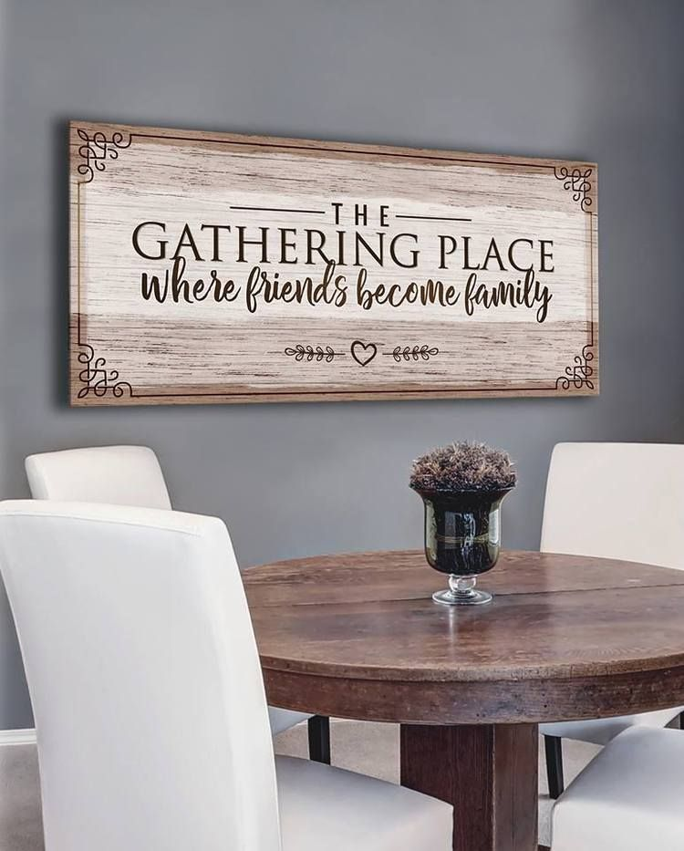 Kitchen Wall Art Memories Are Made Around The Table V2 Wood Frame Ready To Hang Dining Room Wall Decor Dining Room Walls Kitchen Wall Art