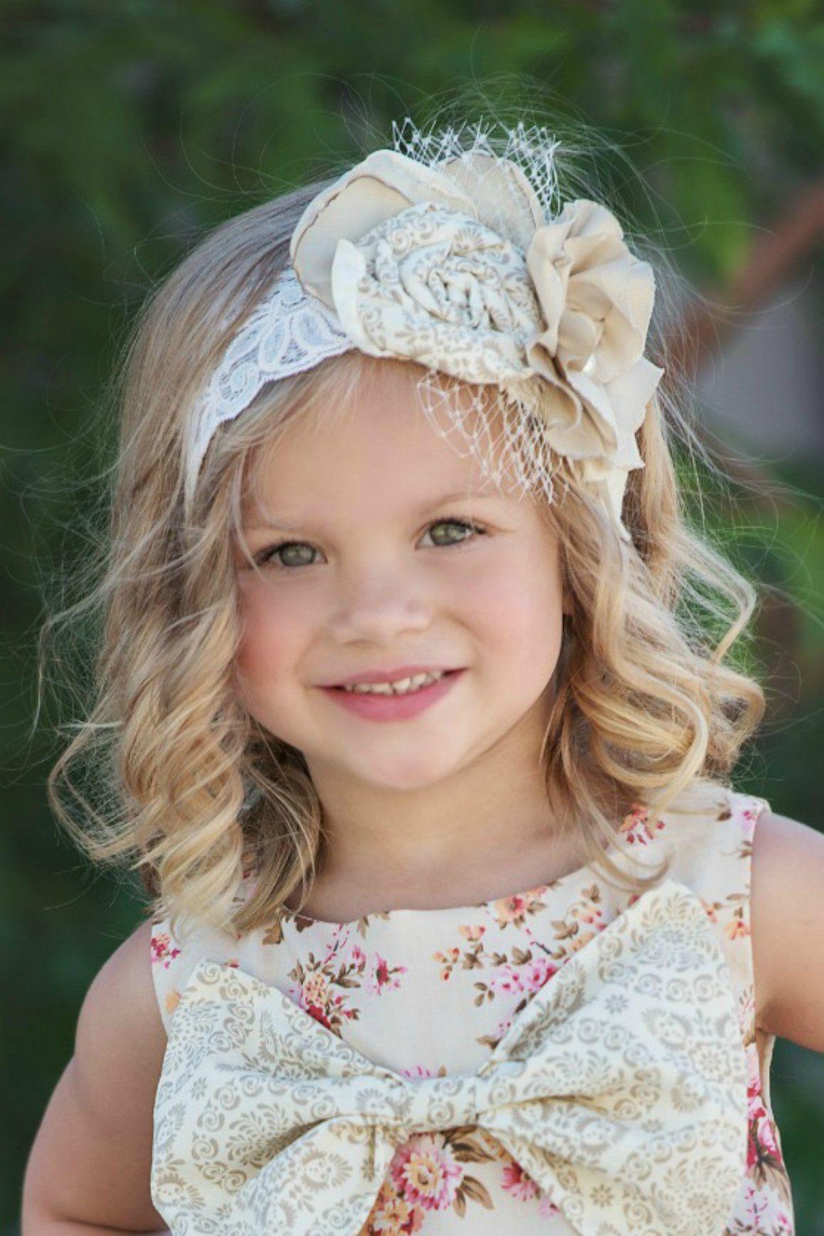 Carmella headbandcream flower girl dresses headbands