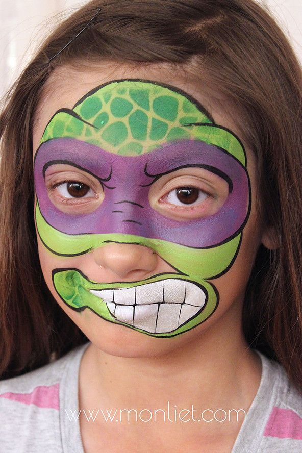 Ninja Turtles Monliet face paint heroes/ villains/ characters - face painting halloween ideas