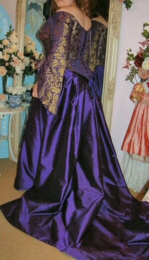Purple Gold Brocade Raffaella Meval Style Wedding Dress