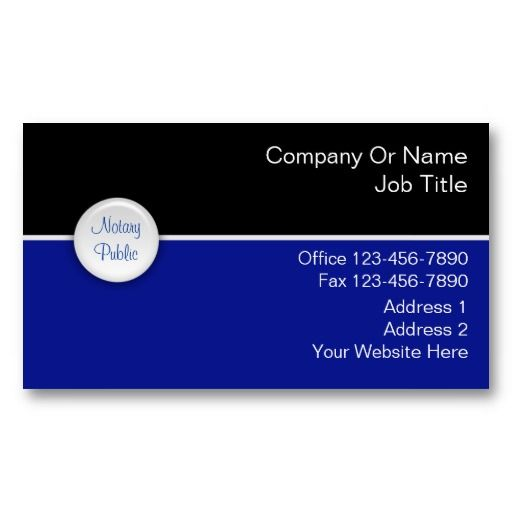 Notary business cards notary public business cards pinterest notary business cards reheart Choice Image