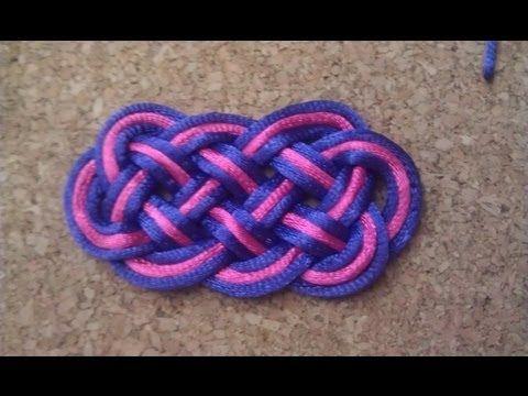 Nudo chino o pallete de ocho puntas. eight-pointed knot - YouTube