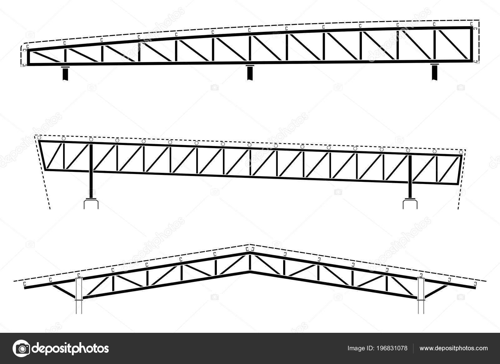 Download Roofing Building Steel Frame Detail Roof Truss Set Vector Illustration Stock Illustration In 2020 Building Roof Roof Trusses Steel Trusses