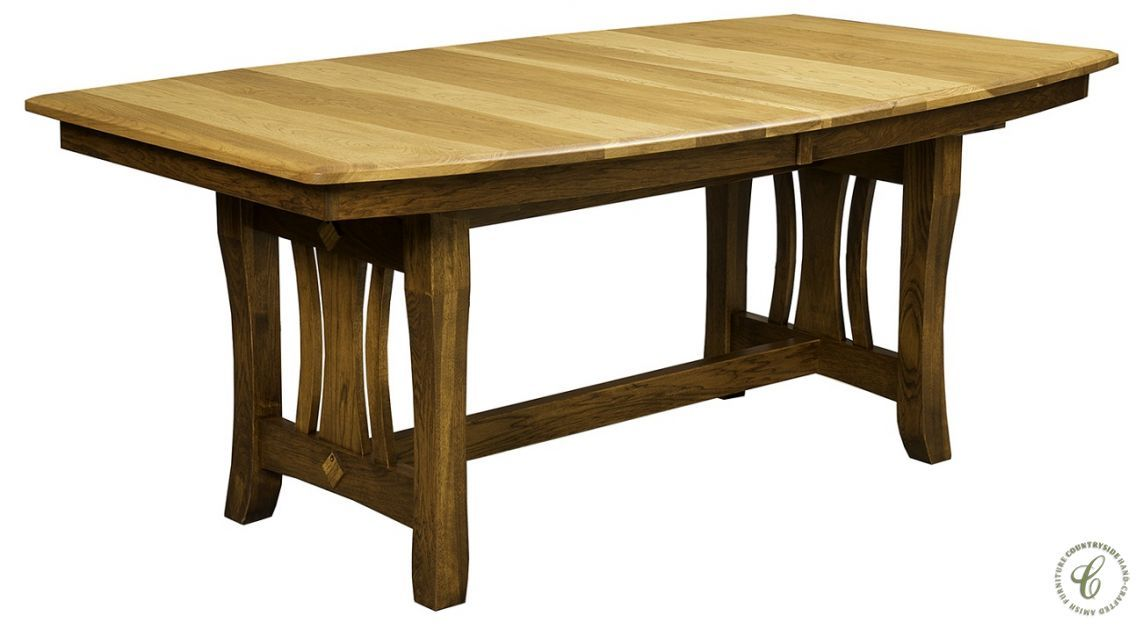 cocoa cottage trestle dining table amish dining furniture rh pinterest co uk