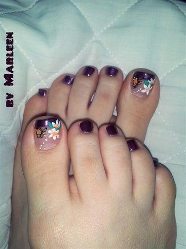 Dark Purple Toes By Marleen Nail Art Gallery Nailartgallery Nailsmag Com By Nails Magazine Www Nailsmag Com Nailart Purple Toes Cute Toe Nails Pretty Toes