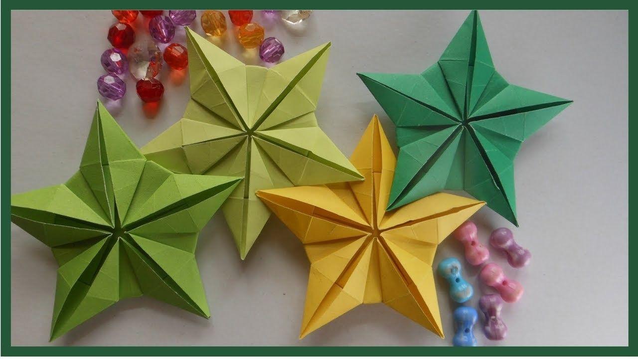 Easy origami star flower instruction for beginners | Diy paper ...