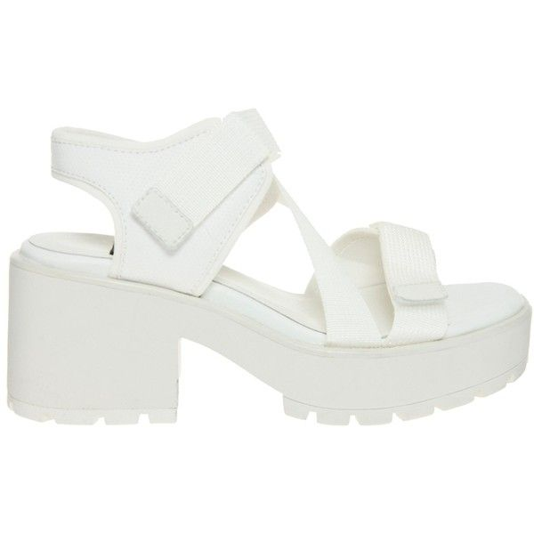 11770cc3cbc85b Vagabond Dioon Multi Strap White Heeled Sandals (€87) ❤ liked on Polyvore  featuring shoes