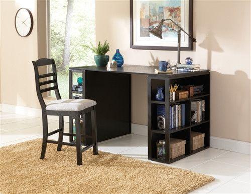 Merveilleux Bradford Premium Modern Counter Height Desk In Black