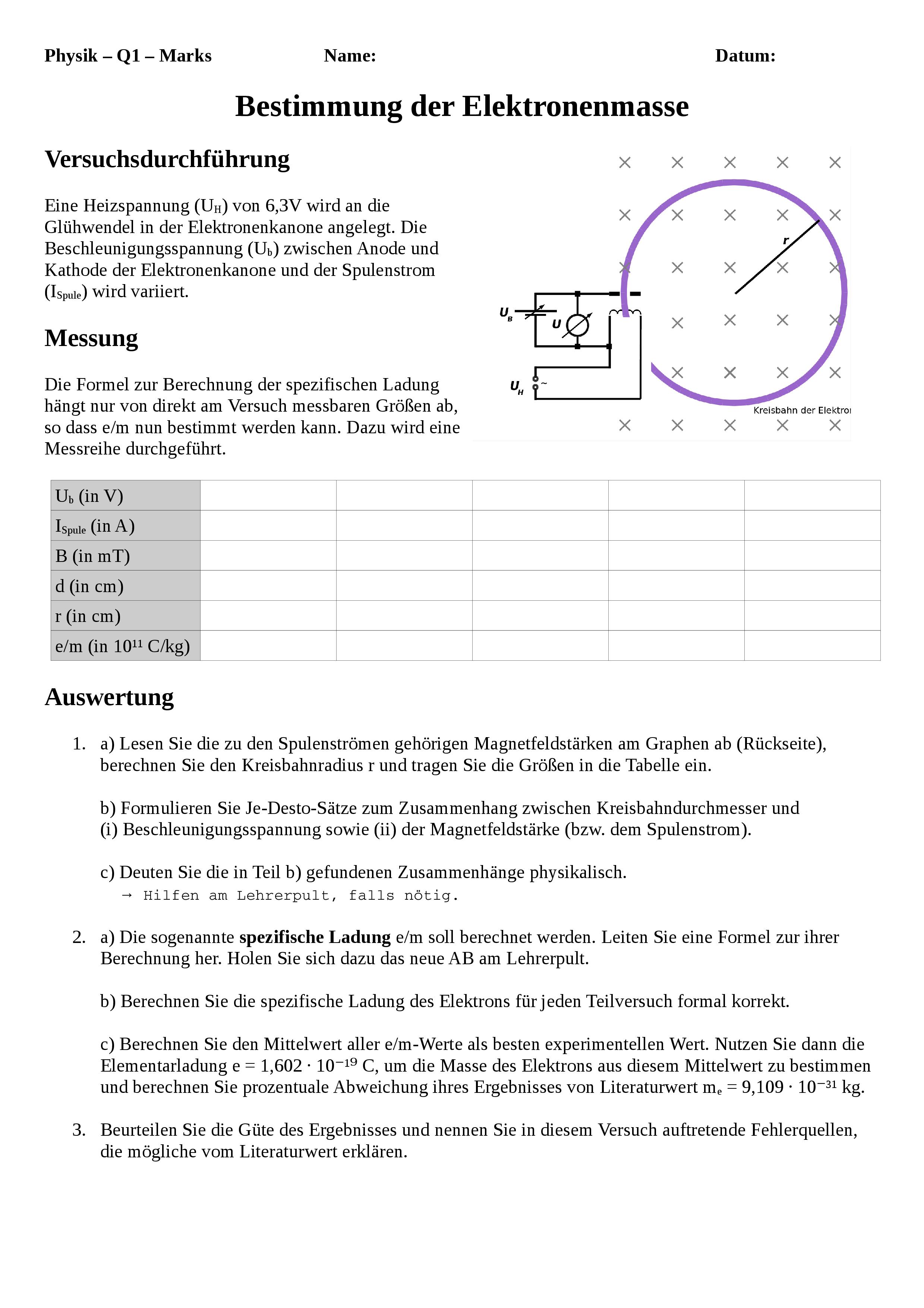 Arbeitsblatter Physik Klasse 5 Magnetismus