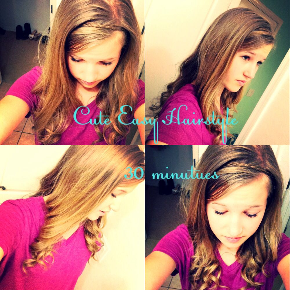 This is a simple cute easy hairstyle for school for girls who need