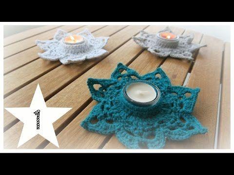 Teelichthalter Häkeln Teelichtuntersetzer Crochet Weihnachten