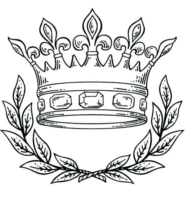 Coloring Pages Crown King Queen Page Free Princess Crowns Coloring