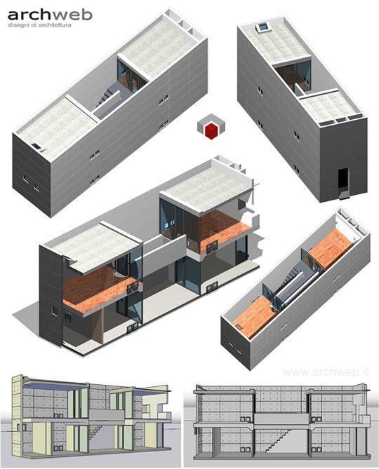 Azuma house 3d model architecture architettura for Architetti d interni famosi
