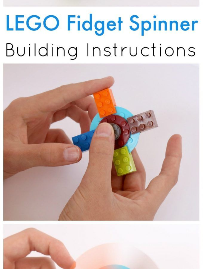 How to Build a LEGO Fid Spinner Kid Fun Pinterest