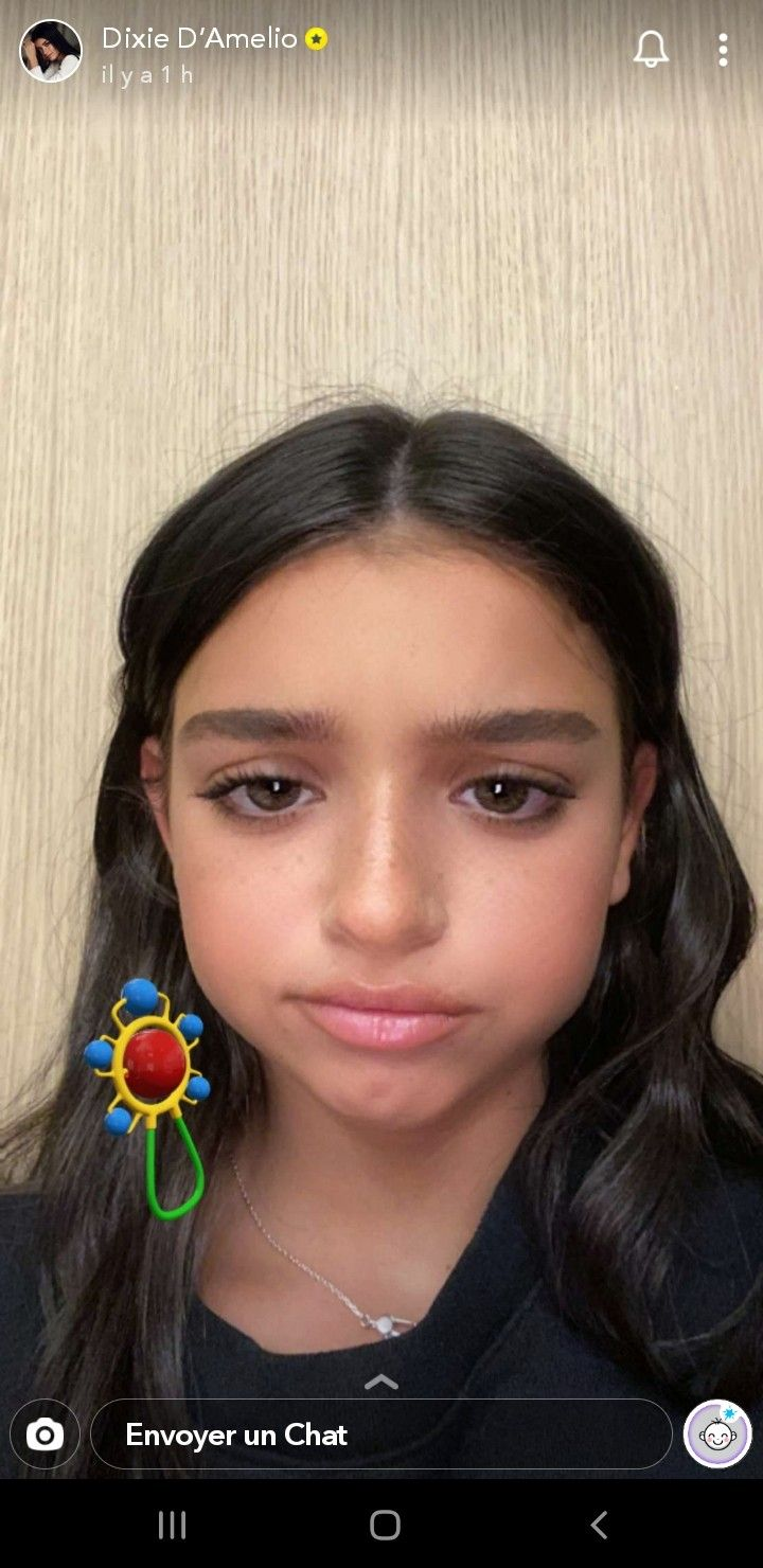 Dixie D Amelio On Snapchat Baby Filter Dixie Filters Famous Girls