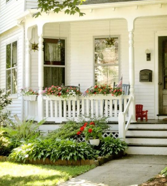 Farmhouse Front Porch Ideas: Farmhouse Touches Great Porch