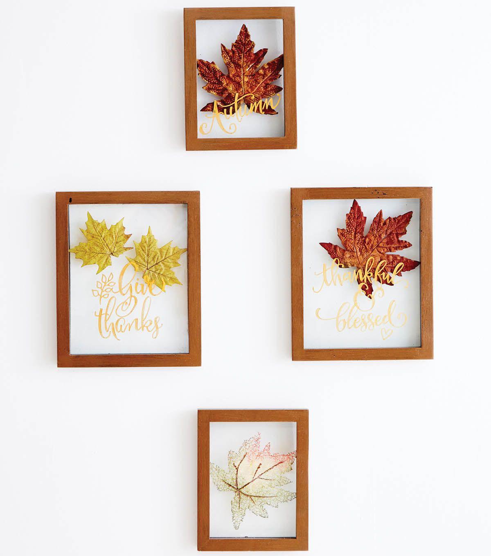 Fall Leaf Floating Frame Wall Decor Fall Wall Decor Frame Wall Decor Fall Decor Diy