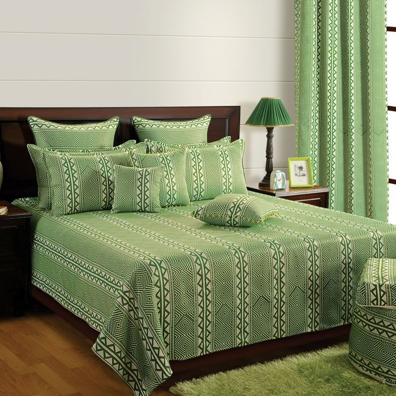 GREEN DELIGHT Saavra in 2020 Bed sheets, Bed sheets