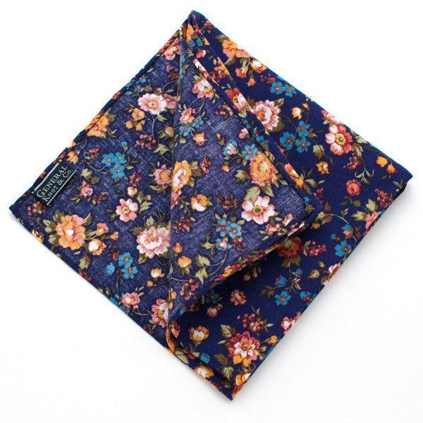 Vintage English Rose Pocket Square