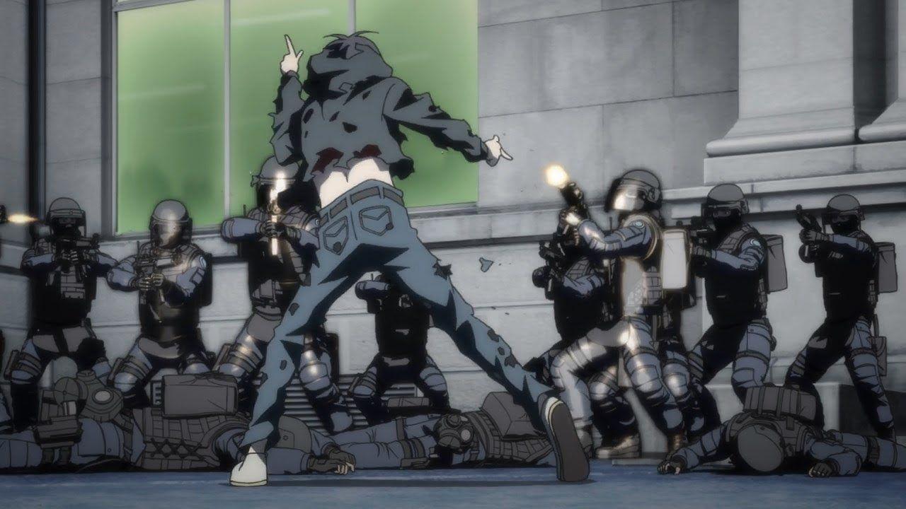 Hiro Shishigami attacks the Police Station Inuyashiki