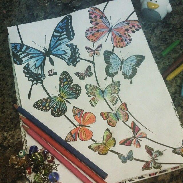 E foi assim meu domingo em família!  #borboletasazuis #colorterapia  #fabercastell #coisasdedomingo #viciadosemfotografia #somostodosum