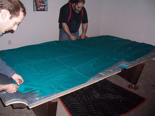 Delicieux How To Install Pool Table Cloth U2013 Home Billiards # TableCloth # TableCovers