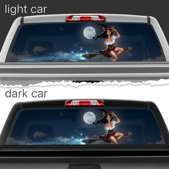 Beautiful Witch Broom Perforated Vinyl Decal Rear Window Car N570 Frst Ebay Motors Parts Amp Accessories Car Amp Truck Car Car Accessories Rear Window