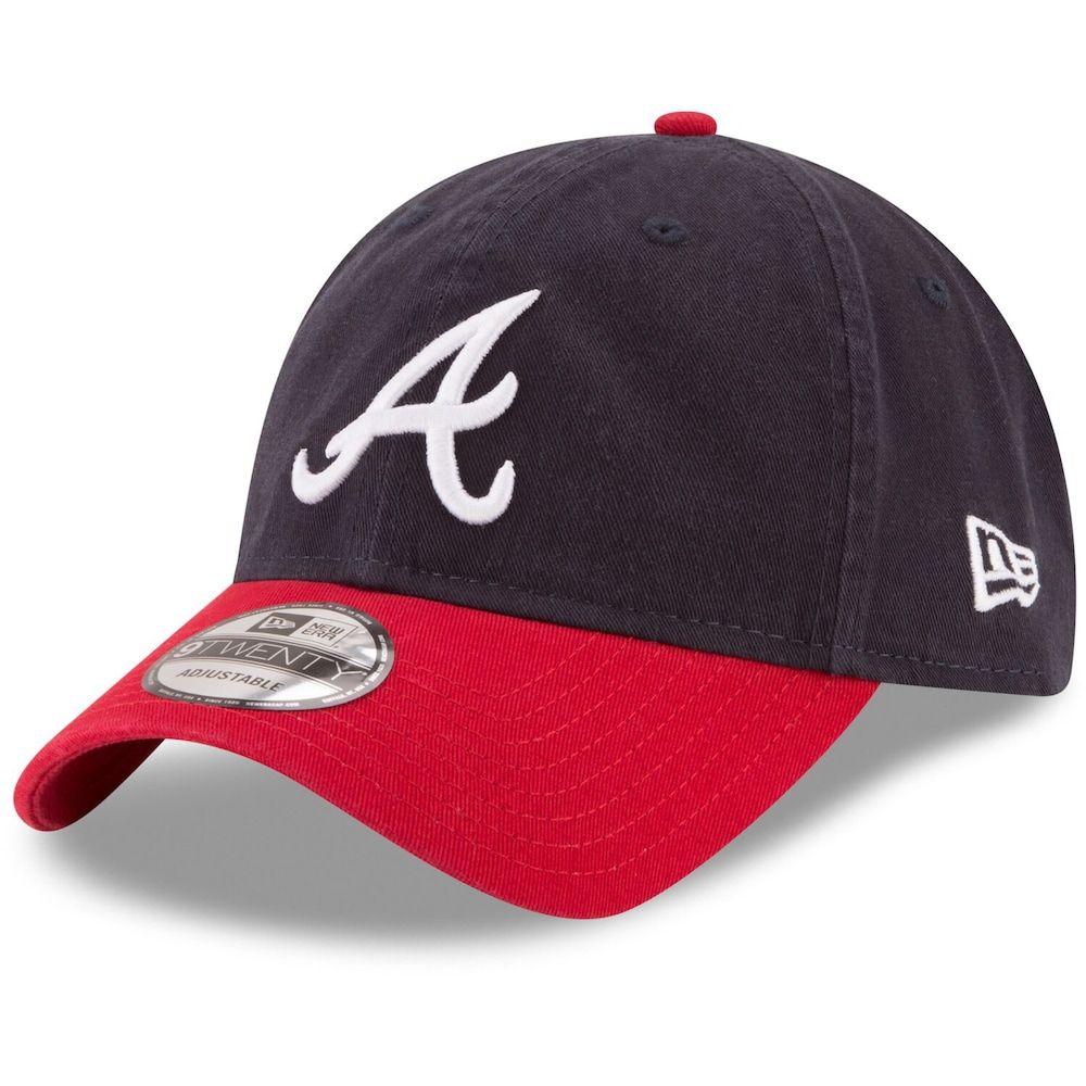 Atlanta Braves New Era Road Replica Core Classic 9twenty Adjustable Hat Navy Atlanta Braves Hat Braves Hat Atlanta Braves