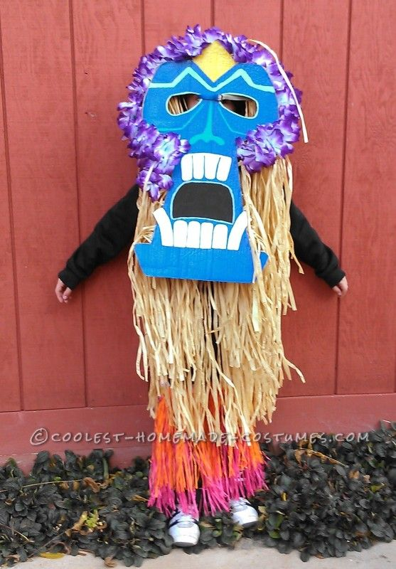 Cool DIY Costume for a Boy A Tiki Man Spotted in Upstate New York - homemade halloween costume ideas men
