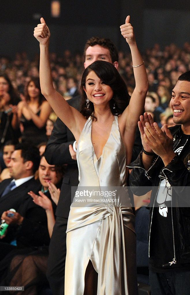 Singer Selena Gomez In The Audience At The 2011 American Music