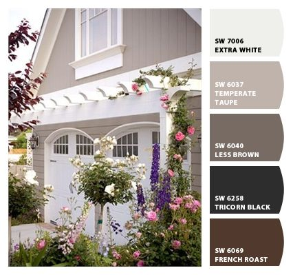 Sw 6037 Temperate Taupe Exterior Color Color Palette Pinterest House Design Och