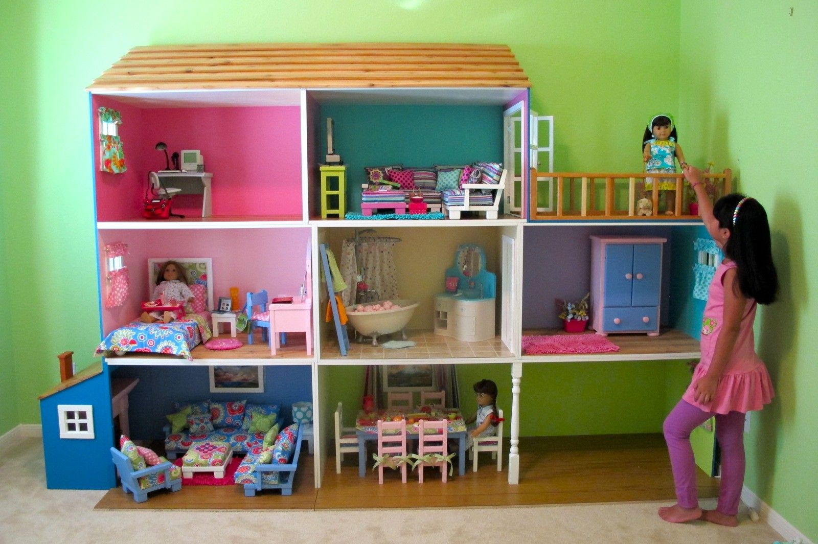 Image Detail for Best 18 Inch Dolls Custom Dollhouse for 18