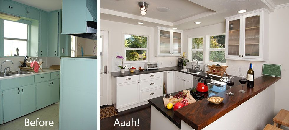 kitchen remodel before after - Before And After Home Remodel