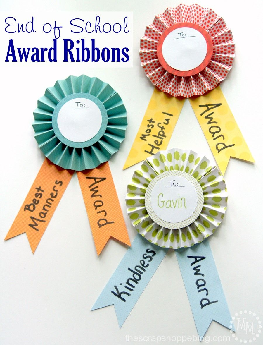 Award ribbons for prizes