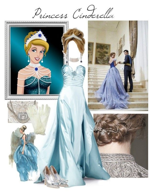 """Cinderella's Royal Jewels"" by linda-rosa ❤ liked on Polyvore featuring Disney, Valentino, Jami, Marina J., Oscar de la Renta, Marchesa and Monsoon"