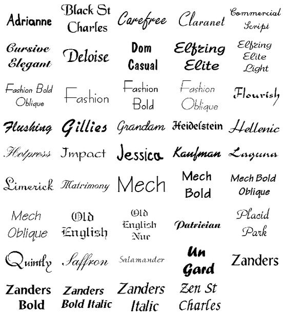 Tattoo Fonts: Heidelstein, Kaufman, Old English, Old English Nue