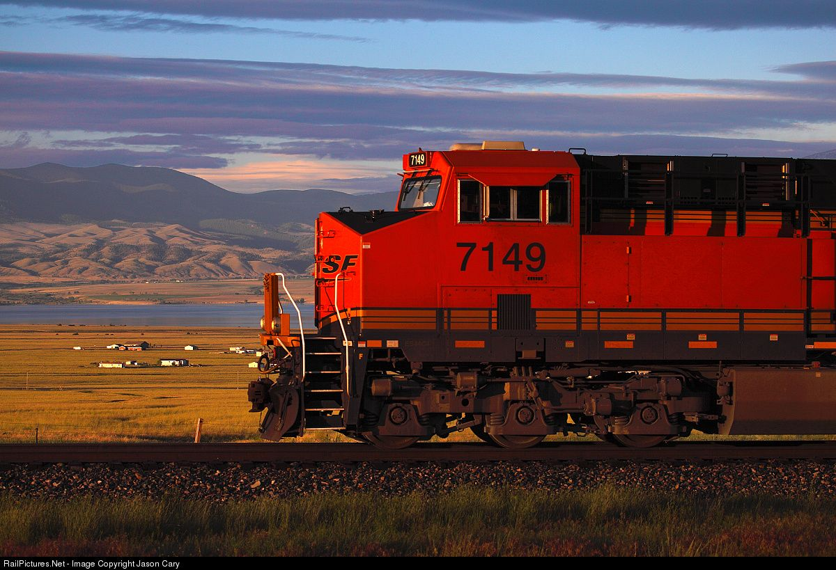 RailPictures.Net Photo: BNSF 7149 BNSF Railway GE ES44C4 at Townsend, Montana by Jason Cary