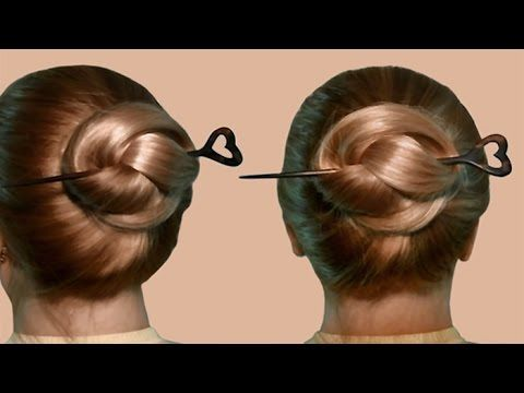 Updo hairstyles bun with hair bow for long hair hairstyle babette hairstyle with hair stick by yourself hairstyle with stick isnt the most elegant of hairstyles but hair sticks can be used when you need to remove hair solutioingenieria Image collections